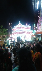 Entrance of the temple decked up